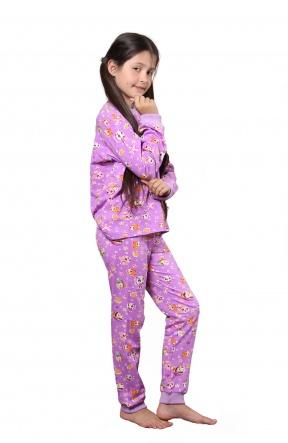 Піжами Пижама `Рыбки` Фиолетовый фото