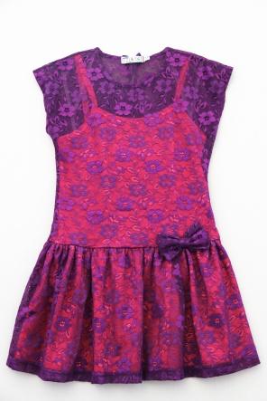 Сукні Платье `Неон-Гипюр` Фиолетово-розовый фото