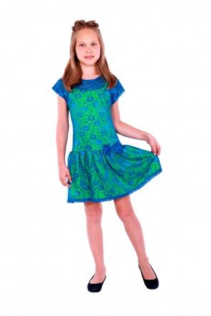 Сукні Платье Неон-Гипюр  Голубой-салатовый фото
