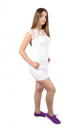 Блузки Блуза Баска  Белый фото