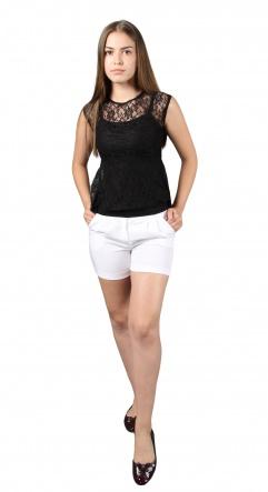 Блузки Блуза Баска  Черный фото