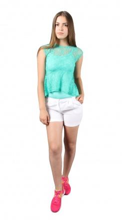 Блуза `Баска` Зеленый фото