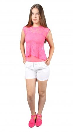 Блузки Блуза Баска  Розовый фото