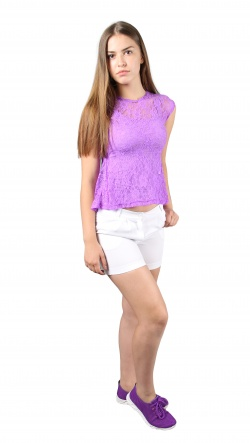 Блузки Блуза Баска  Фиолетовый фото