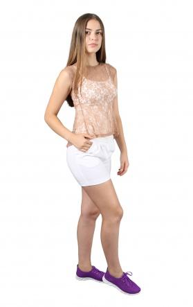 Блузки Блуза Баска  Бежевый фото