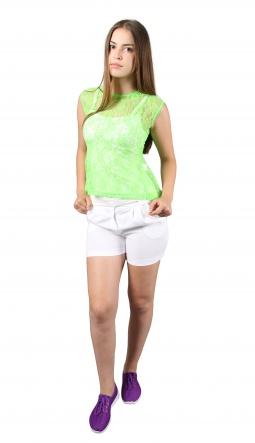 Блузки Блуза Баска  Салатовый фото