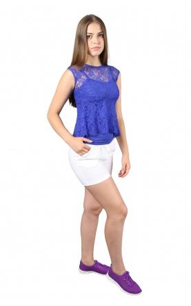 Блузки Блуза Баска  Синий фото