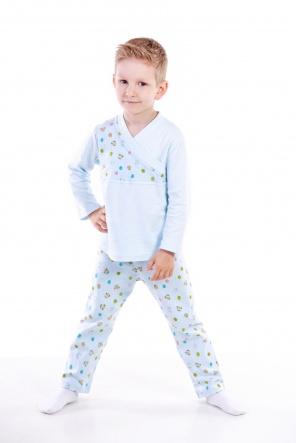 Піжами Пижама Пуговка  Голубой фото