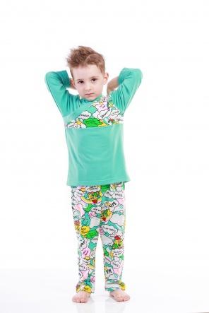 Піжами Пижама Губка Боб  Зеленый фото