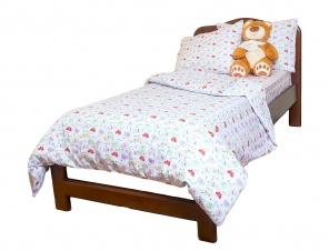 1,5 Комплект постельного белья Белый/зеленый фото