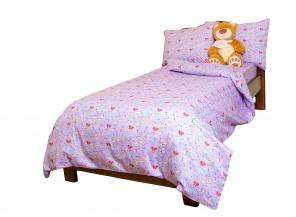 Півтораспальна постільна білизна Комплект постельного белья Фиолетовый фото