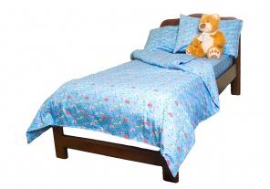 Півтораспальна постільна білизна Комплект постельного белья Голубой фото