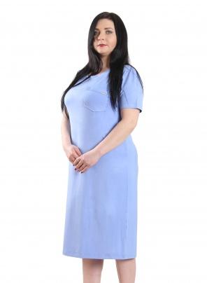 Нічні сорочки Ночная рубашка Карманчик  Голубой фото