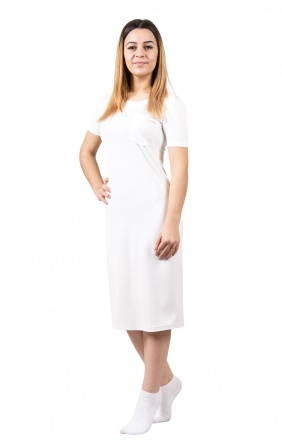 Нічні сорочки Ночная рубашка Карманчик  Белый фото