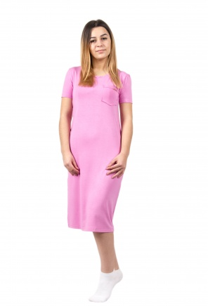 Нічні сорочки Ночная рубашка Карманчик  Розовый фото