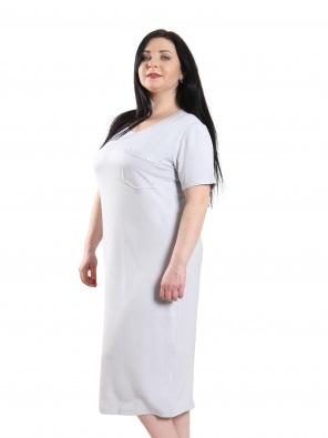 Нічні сорочки Ночная рубашка Карманчик  Серый фото