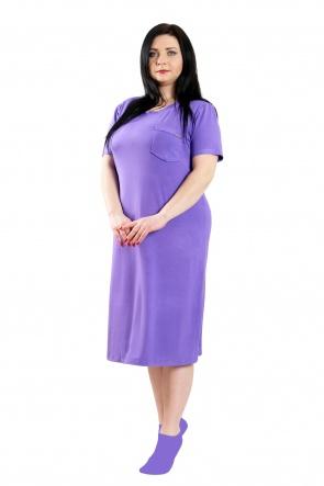 Нічні сорочки Ночная рубашка Карманчик  Фиолетовый фото