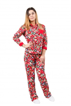 Піжами Пижама Класик  Красный фото
